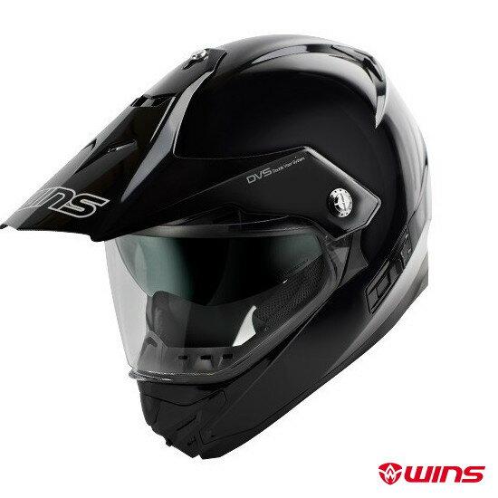 WINS X-ROAD インナーバイザーつき オフロードヘルメット 【メタリックブラック:XLサイズ】
