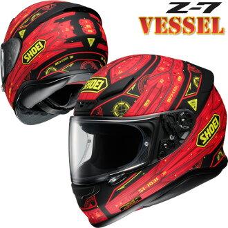 ショウエイZ-7VESSEL(ヴェッセル)フルフェイスヘルメット【TC-1(RED/BLACK)Mサイズ】