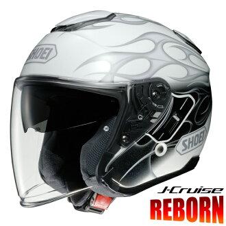 SHOEIJ-CruiseREBORN(Jクルーズリボーン)【TC-6(WHITE/GREY)Lサイズ】ジェットヘルメット