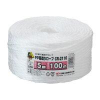 まつうら工業PP荷造りロープ約5ミリX100M白CR