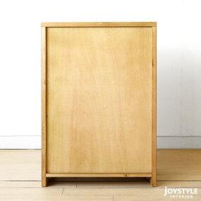 幅60cm節ありのナラ材使用ナラ無垢材天然木ガラス扉可動棚シンプルモダンデザインサイドキャビネットサイドボードチェスト飾り棚VILLAGE-CB60