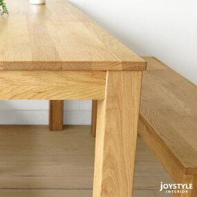 【開梱設置配送】幅135cm160cm180cmの3サイズナラ材ナラ無垢材の小さな部材をパッチワークのように継ぎ合わせたアンティーク風のダイニングテーブルLEGO-TABLE