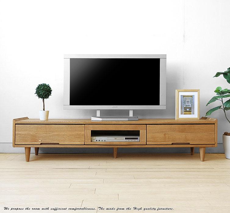 タモ無垢材 ローボード CARROT-TV165L:JOYSTYLE coordinate