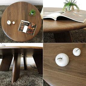 直径112cmのオーバル型テーブル円テーブルウォールナット材ウォールナット無垢材の円形リビングテーブル円卓ちゃぶ台丸テーブルRIDA-LT