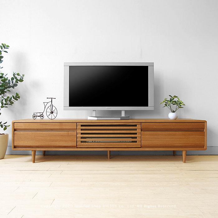 テレビ台 テレビボード 開梱設置配送 タモ材 ナチュラル色 幅180cm タモ材 オイル仕上げ 木製 北欧テイスト タモ無垢材