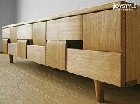 幅158cmタモ材タモ無垢材木製テーパー脚和モダンテイスト和の趣を感じさせるデザインのテレビボードJOE-TV158ナチュラル色ダークブラウン色2色展開