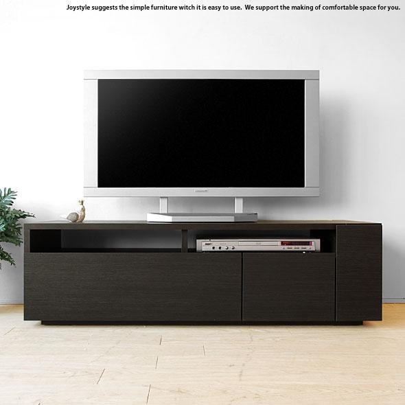 幅120cm ダークブラウン色 ブラック色 黒色 和モダンテイスト モノトーンコーディネート 収納力があるシンプルモダンデザインのロータイプのテレビボード
