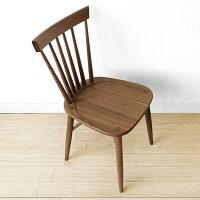 ウォールナット材ウォールナット無垢材天然木木製椅子ウィンザースタイルのダイニングチェアウィンザーチェア板座ROCA-CHAIR