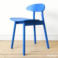 【受注生産商品】ナラ材ナラ無垢材木製椅子丸みのあるかわいらしいコンパクトなダイニングチェア板座背もたれのデザインと塗装カラーが選択可能LIPO-CH外側に開いたスリム脚が開放感のあるお部屋を演出します