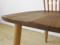 受注生産商品ウォールナット材とタモ材のコントラストがきれいな板座の椅子タモ無垢材ウォールナット無垢材木座木製椅子ナチュラルテイストダイニングチェアFUTABA-DC-2C