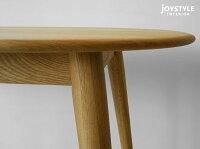 幅150cmナラ材無垢材天然木脚と天板が丸いかわいいフォルムのダイニングテーブルPino-Tableネットショップ限定オリジナル設定