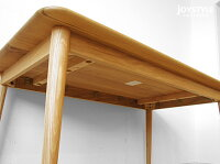 【開梱設置配送】幅140cmナラ材ナラ無垢材ナラ天然木角丸面取角丸長方形テーパー脚と天板が丸いかわいいフォルムのダイニングテーブルPino-Table140R(※チェア別売)
