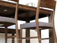 【開梱設置配送】幅135cm160cm180cmの3サイズウォールナット材ウォールナット無垢材の小さな部材をパッチワークのように継ぎ合わせたアンティーク風のダイニングテーブルLEGO-TABLE