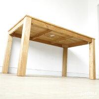 数量限定幅180cmナラ材ナラ無垢材の小さな部材をパッチワークのように継ぎ合わせたアンティーク風のダイニングテーブルLEGO-TABLE180