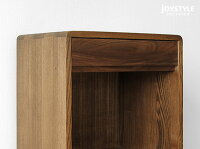 幅45cmタモ材ウォールナット材タモ無垢材ウォールナット無垢材ダークブラウン色テーパー脚角に丸みがあるオシャレなFAX台電話台POCKET-FS-BR
