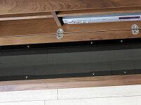 【受注生産商品】160cm180cm200cmの3サイズウォールナット無垢材の天板と前板がオシャレなシンプルモダンデザインGRAM-200WNKブラックガラス扉ウォールナット材※サイズ、素材によって金額が変わります!
