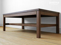 幅110cmウォールナット材ウォールナット無垢材天然木木製ローテーブルアジアンテイスト収納棚付きのシンプルなリビングテーブルLIZZ-LT-WNネットショップ限定オリジナル設定