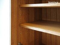 幅120cmタモ材ウォールナット材タモ無垢材天然木木製ナチュラルテイストテーパー脚サイドボードガラス扉Pocket-SB120NA※現在欠品中、次回入荷予定は8月中〜下旬頃です。