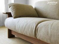 受注生産商品ウォールナット材ウォールナット無垢材木製フレームのフルカバーリングソファー国産ソファ木製ソファ2PソファRECK-2P-WN