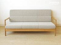 国産ナラ材ナラ無垢材ナラ天然木背面のデザインがきれいな木製ソファーカバーリングソファーSCANDIC-2P