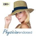 【Physiciane】中折れ 中折れ帽子 帽子 リボン UVカット 麦わら帽子 レディス 夏 夏用 サマーハット 日よけ ストローハット UV レディース 母の日