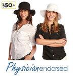 【Physiciane】折りたたみ帽子コットン100%ツバ広フリンジつば広夏折りたたみ帽子