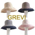 【Grevi帽子】グレヴィハット折りたたみつば広ブレードハットUVツバ広つば夏帽子