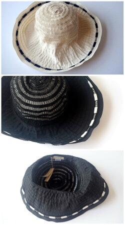 49c2b29d54192 ... Grevi帽子グレヴィハット折りたたみレースつば広ブレードハットUV夏帽子レディースUVカット紫外線 ...