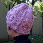 【ニット帽】ケーブル編みのニット帽子メンズ・レディースのワッチ・ニットキャップ/グレー・ブラック・ピンクの毛糸帽子
