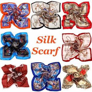 シルク スカーフ 大判 シルク100% 85×85 正方形 シルクスカーフ ストール 絹 シフ…