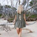 ワンピース レディース ドレス 半袖 リネン ビーチドレス サマードレスリゾート ビーチウエア ビーチワンピ スカート