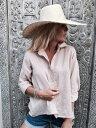 ボタンシャツ レディース トップス 長袖シャツ 襟付き ブラウス ビーチウエアリゾートウエア リネンシャツ ビーチトップス リゾートトップスカバーアップ 水着の上に着る 海 リゾート サマーウエア サマードレス