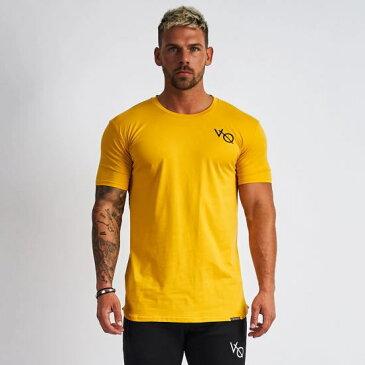 VANQUISH FITNESS ヴァンキッシュフィットネスTシャツ メンズ 半袖Tシャツ 黄色 きいろ ジムTシャツジムウエア スポーツウエア メンズファッション 無地Tシャツトレーニングウエア おしゃれTシャツエッセンシャルSP ショートスリーブTシャツ【イエロー】