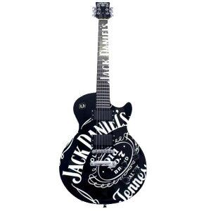ジャックダニエル ギター ギタージャックダニエル オールド7ロゴ (黒)【送料無料】【並行輸入…