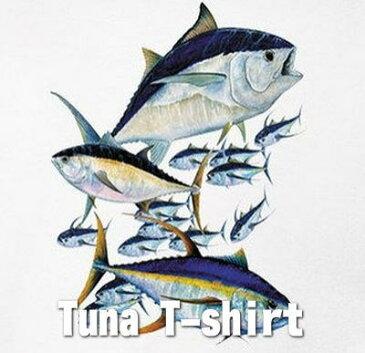 マグロTシャツ ツナTシャツ 半袖Tシャツ本場米国直輸入品 TUNA デザインTシャツ メンズTシャツ。