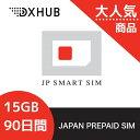 【Docomo回線】90日間 15GBプリペイドSIM 大容...
