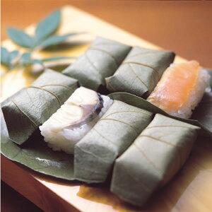 佐伯で評判の押し寿司「寿司の町」大分佐伯!かわなみの柿の葉ずし 鯖・鮭詰合せ(27個入)