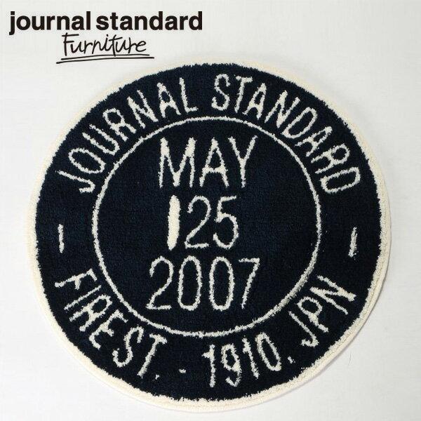 journal standard Furniture ジャーナルスタンダードファニチャー JSF STAMP RUG NAVY スタンプ ラグマット ネイビー 家具 【送料無料】【ポイント10倍】