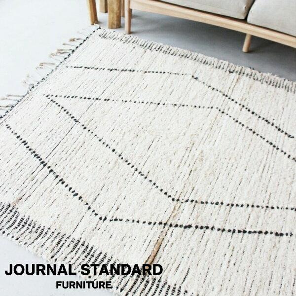 journal standard Furniture ジャーナルスタンダードファニチャー Asilah RUG アシラー ラグ 140x200cm ホワイト 家具 ラグ ラグマット マット ラグカーペット カーペット【送料無料】
