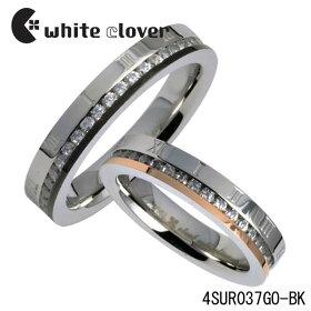 【whiteclover】ローマキュービックステンレスペアリング(ペア)ステンレスジュエリーホワイトクローバー