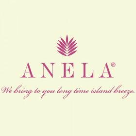 【ANELA】アネライニシャルピアスMハワイアンジュエリーK10YGイエローゴールドシングルピアスAquaBelleアクアヴェール【レビューを書いて送料無料・メール便使用】