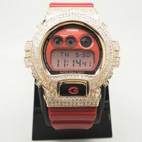 【CustomG-ShockカスタムGショックベゼル】シルバーメンズ腕時計【送料無料・代引き手数料無料】SVSILVER925男性用ウォッチかすたむじーしょっくカスタムジーショックG−SHOCKカバージルコニアCZスラッシャーDW-6900