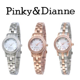 【Pinky&Dianne】人気のピンキー&ダイアン腕時計!待望のソーラーウォッチが登場!PD101TWHP&D【送料無料】【_包装選択】