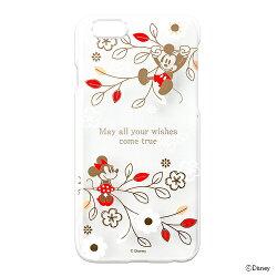 【ディズニーiPhone6用ポリカーボネイトハードケース】【クリア金箔押し】【ミッキー&ミニー】pgdcs841mmiphone6disneyケースアップルポイント送料無料apple4562358078415