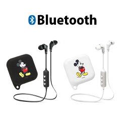 ディズニーBluetooth4.1搭載ワイヤレスステレオイヤホンシリコンポーチ付き【ミッキーマウス/ブラック】bluetoothブルートゥースイヤホンbluetoothiphoneスマートフォンスマホガラケーヘッドホン音楽ステレオイヤホン4562358114090