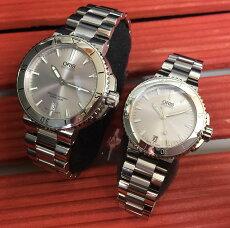 オリスORIS腕時計ペアウォッチOrisアクイスデイト国内正規3年保証婚約指輪の変わりに結納返し733.7676.4141M733.7652.4141M