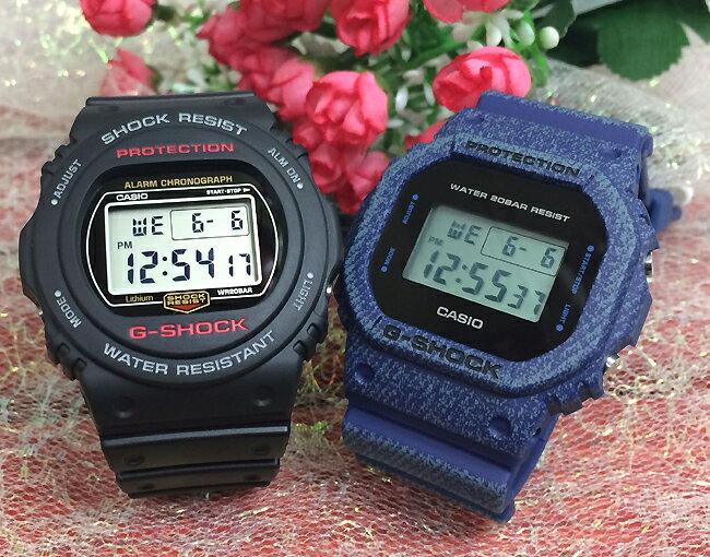 恋人たちのGショック ペアウオッチ  G-SHOCK ペア腕時計 カシオ 2本セット gショック ベビーg DDW-5600BB-1JF DW-5750E-1JF プレゼント ギフト  ラッピング無料 手書きのメッセージカードお付けします あす楽対応 g-shock クリスマスプレゼント