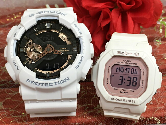腕時計, ペアウォッチ G G-SHOCK BABY-G 2 g g GA-110RG-7AJF BG-5606-7BJF