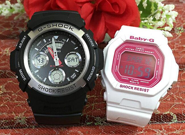 腕時計, ペアウォッチ G G G-SHOCK BABY-G 2 g g AW-590-1AJF BG-5601-7JF g-shock
