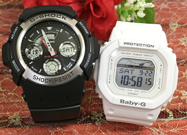 恋人たちのGショック ペアペアウォッチ G-SHOCK BABY-G ペア腕時計 カシオ 2本セット gショック ベビーg アナデジ AW-590-1AJF BLX-560-7JF お揃いプレゼント ギフト あす楽対応 人気 ラッピング無料 手書きのメッセージカードお付けします